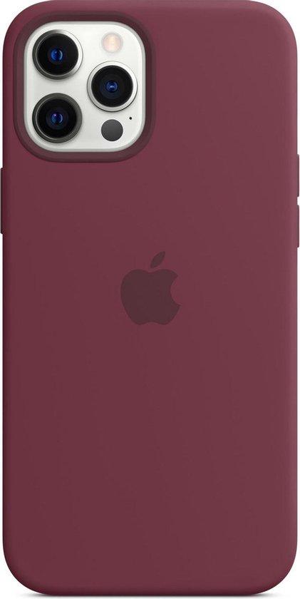 Siliconenhoesje met MagSafe voor iPhone 12 Pro Max - Pruimenpaars