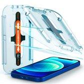 Spigen EZ FIT Glass Met Montage Frame voor Apple iPhone 12/12 Pro - 2 Pack - AGL01801
