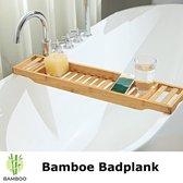 Decopatent® Badrekje voor over bad - 70 cm lang - Bamboe hout - Badrek - Badplank - Badbrug - Basic bad tafeltje voor in bad