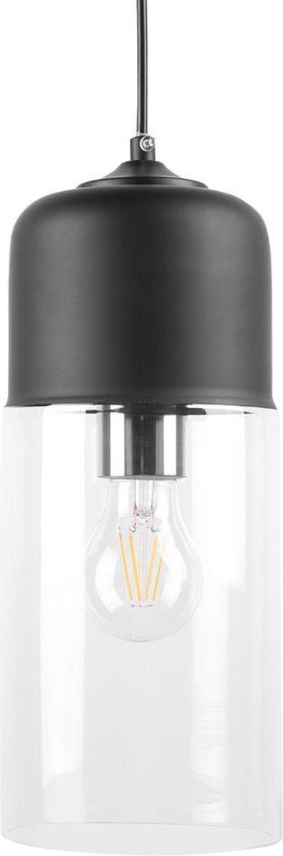 Beliani PURUS - Hanglamp - zwart - glas