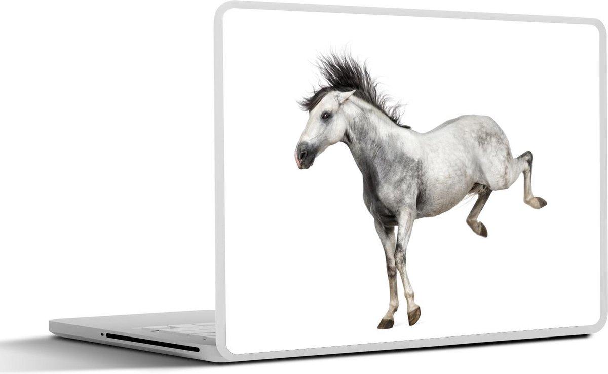 Laptop sticker - 15.6 inch - Paarden - Wild - Wit