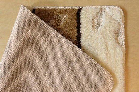 Badmat set ivoor/bruin - 60 x 100 cm + 50 x 60 cm - Ikado