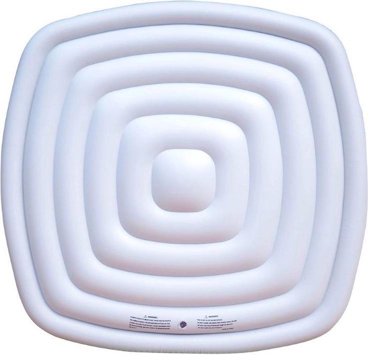 Opblaasbare isolatie deksel vierkant 4 persoons bubbelbad