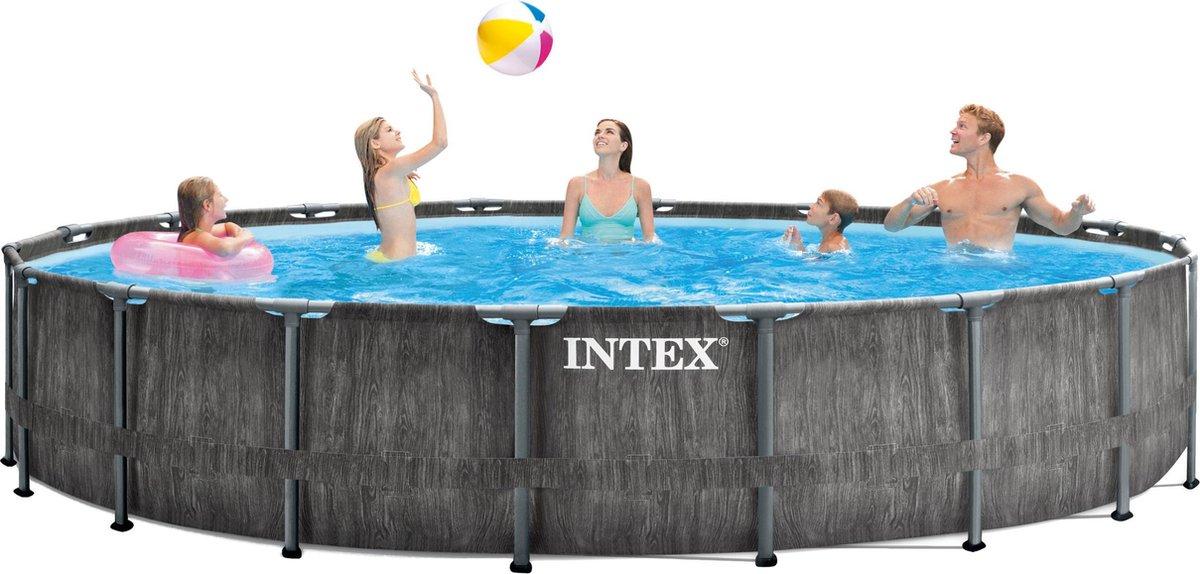 Intex Opzetzwembad Greywood 549 X 122 Cm Polyester/staal Grijs