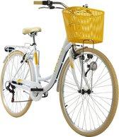 Ks Cycling Fiets Stadsfiets 6 versnellingen Cantaloupe 28 inch wit - 48 cm