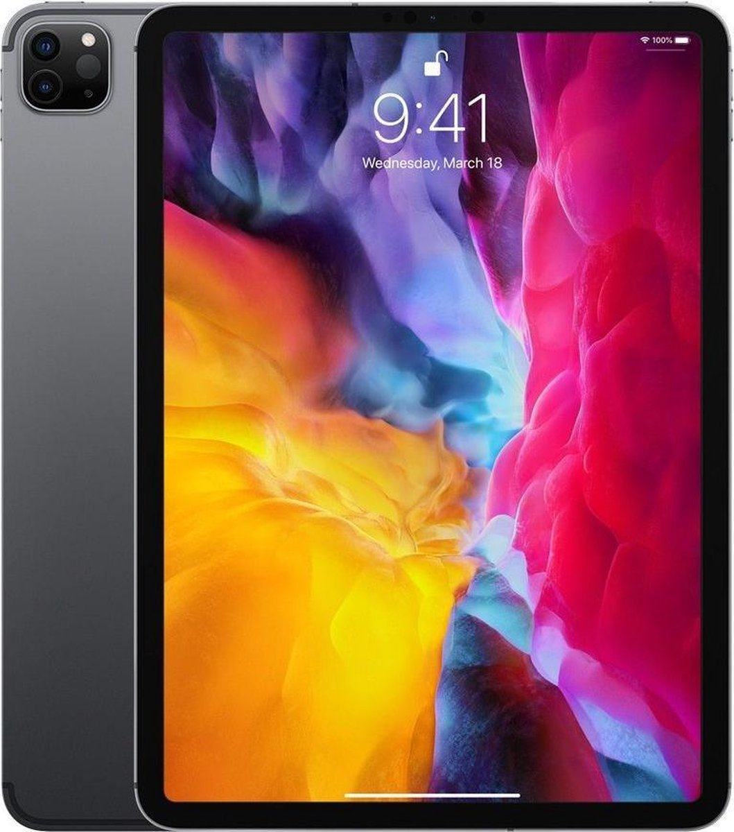 Apple iPad Pro (2020) refurbished door Adognicosto – A Grade (zo goed als nieuw) – 11 inch – WiFi – 256GB – Spacegrijs