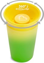 Munchkin Miracle beker sippy- van kleur veranderend- colour changing sippy cup geel