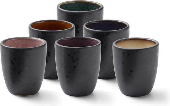 Espresso Kopjes Set van 6 stuks Matte Black