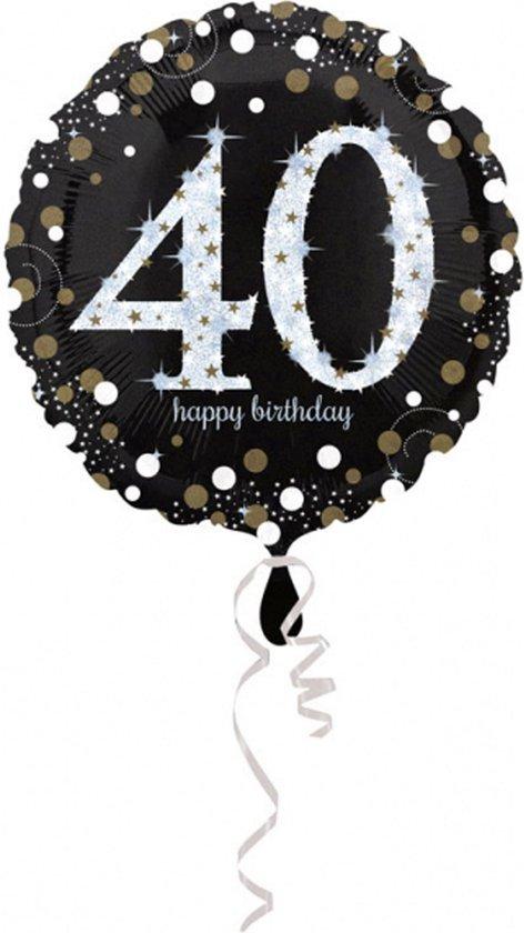 AMSCAN - Glanzende Happy Birthday 40 jaar ballon - Decoratie > Ballonnen
