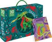 Boek + 3D-puzzel  -   Draak