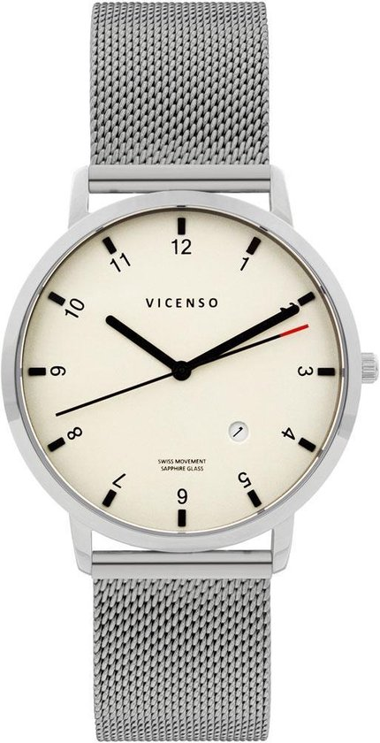 Vicenso Rome VI10023 Zilver Wit/Zilver