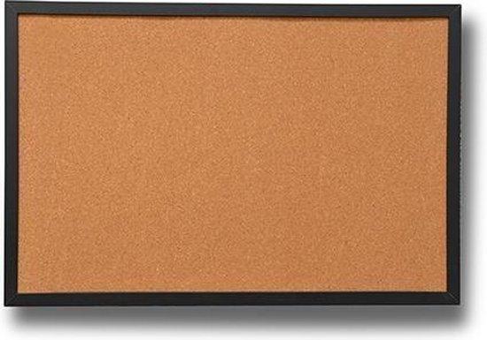 Afbeelding van Prikbord kurk zwart houten lijst 60 x 80 cm