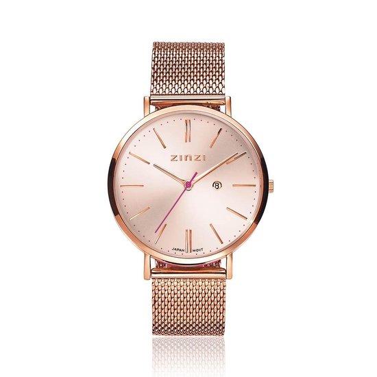 ZINZI ZIW405M horloge - Rosékleurig - 38 mm + gratis Zinzi armbandje