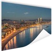 Strand van Barcelona Poster 150x75 cm - Foto print op Poster (wanddecoratie woonkamer / slaapkamer) / Steden Poster