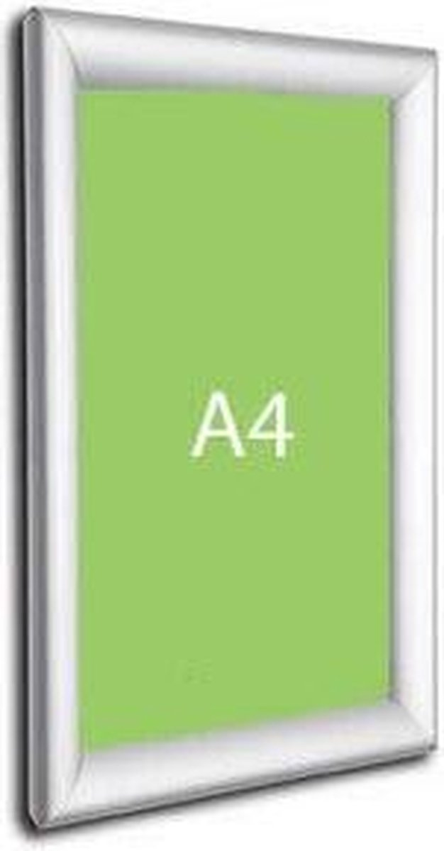 Kliklijstshop Kliklijst A4 - 21x29.7 cm - Aluminium - Zilver
