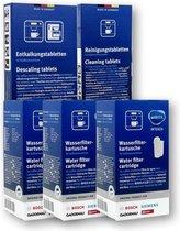 3x Brita Intenza Waterfilter - Bosch - Siemens waterfilter TCZ7003 / TZ70003 / 575491 + Bosch/Siemens Reinigingstabletten + Bosch TCZ8002 / Siemens TZ80002 2in1 Ontkalkingstabletten – 3 Stuks