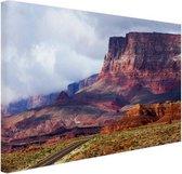 Woestijnlandschap Amerika Canvas 180x120 cm - Foto print op Canvas schilderij (Wanddecoratie woonkamer / slaapkamer) XXL / Groot formaat!