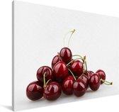 Zoete kersen op een hoopje Canvas 140x90 cm - Foto print op Canvas schilderij (Wanddecoratie woonkamer / slaapkamer)
