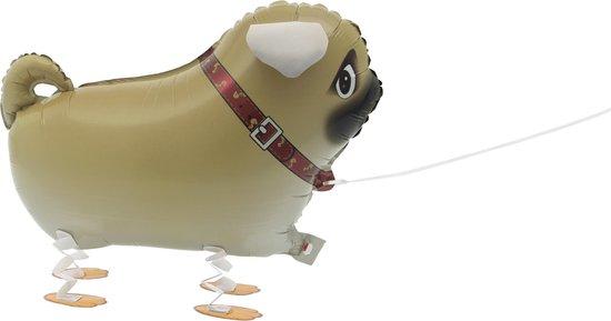 Metallic wandelende hond ballon - Feestdecoratievoorwerp