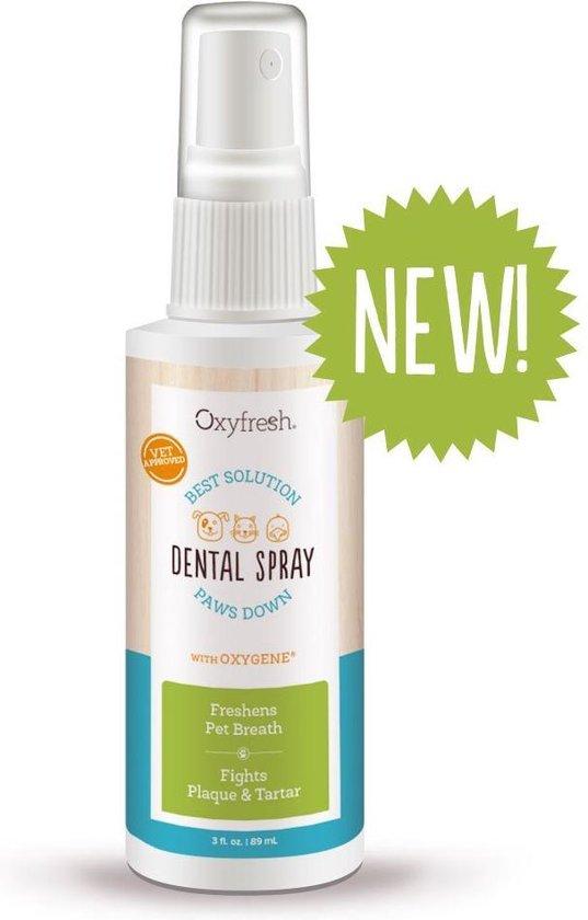 OxyFresh Pet Mondspray voor hond en kat tegen slechte adem en tandsteen