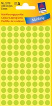 Huismerk Avery 3177 Ronde Etiket 8mm Licht Groen