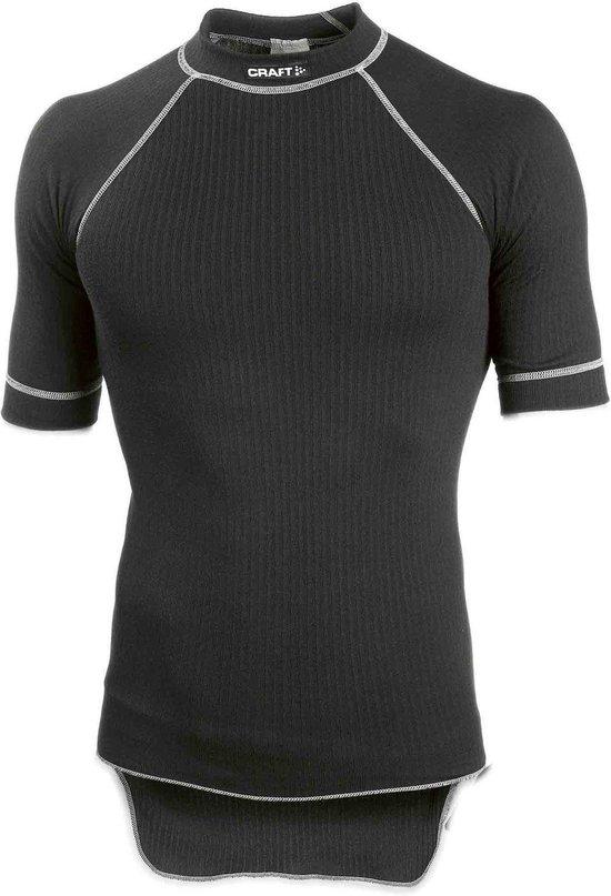 Craft heren thermoshirt korte mouw zwart | Mannen ondergoed.nl