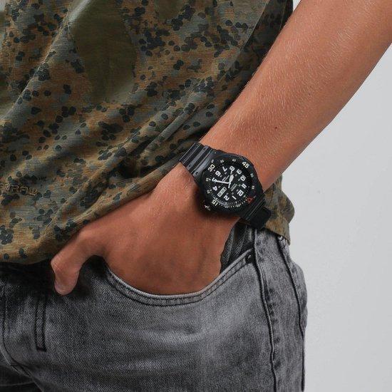 Casio MRW-200H-1BVEF - Horloge - 44.6 mm - Siliconen - Zwart - Casio