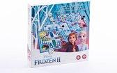 Frozen II spellendoos 4-delig: ladderspel – molenspel - dammen – ludo (mens-erger-je-niet)