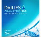 -4,50 - DAILIES® AquaComfort PLUS® - 90 pack - Daglenzen - BC 8,70 - Contactlenzen