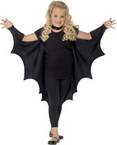 Zwarte vleermuis cape voor kinderen - Verkleedattribuut