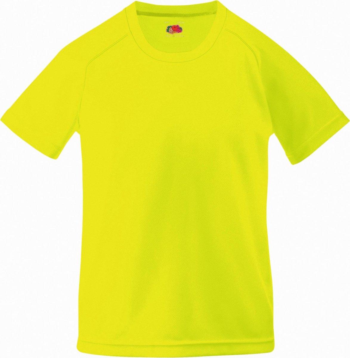 Fruit Of The Loom Kinderen Unisex Prestatie Sportskleding T-Shirt (2 stuks) (Bright Yellow)