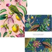 Passion Peacock & Botanical Garden - Schriftset/Notitieboek set - A5 Formaat - Zachte kaft - A5 formaat - Gelinieerde pagina's - Zachte Kaft  - Creative Lab Amsterdam