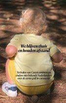 Boek cover We blijven thuis en houden afstand van Anja Hoog Antink