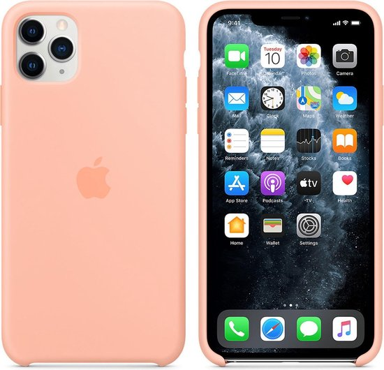 Apple Siliconen Hoesje voor iPhone 11 Pro Max - Grapefruit Oranje