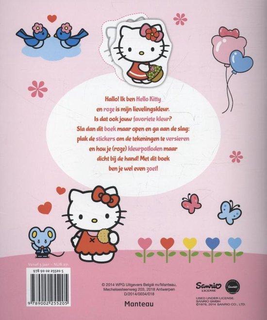 Hello Kitty  -  Stickerplezier Ik hou van roze