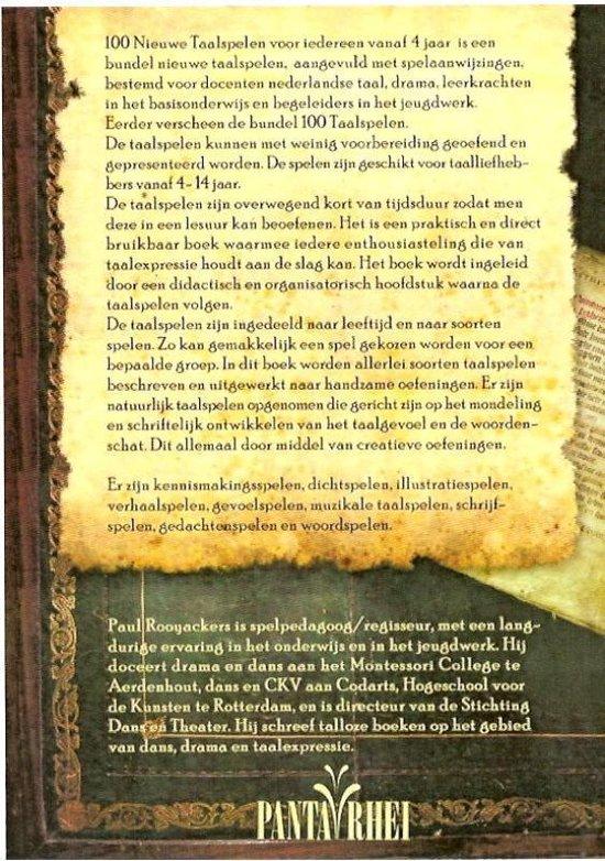 Honderd nieuwe taalspelen - P. Rooyackers