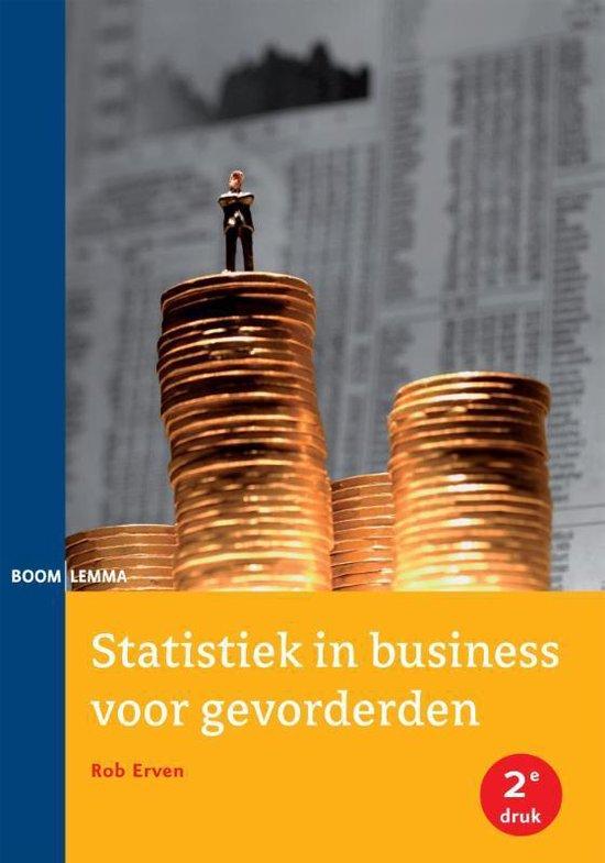 Boek cover Statistiek in business voor gevorderden van Rob Erven