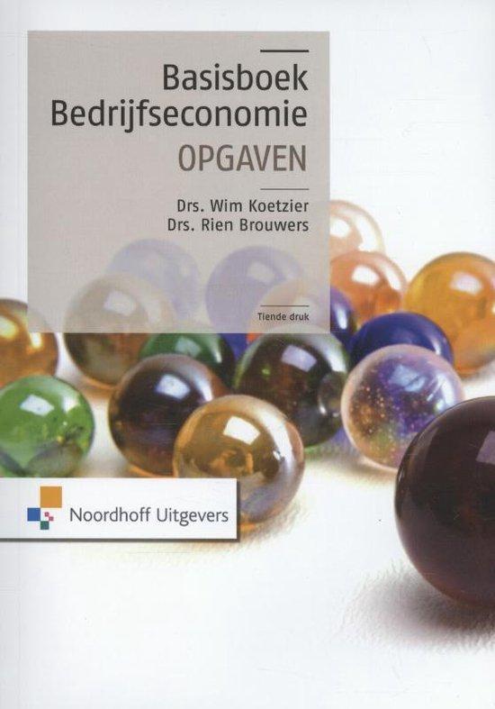 Boek cover Basisboek bedrijfseconomie van Rien Brouwers