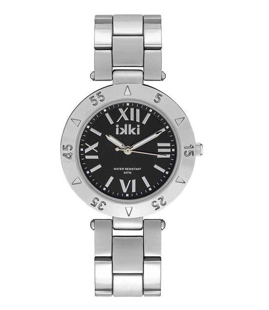 IKKI PAIGE PG04 Horloge – Zilver/Zwart