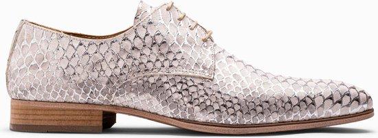 Paulo Bellini Dress Shoe Carbonia Leather White Silver