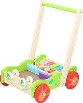 Marionette Wooden Toys Loopwagen - Babywalker met Houten Blokken - 23-delig