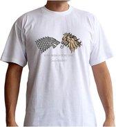GAME OF THRONES - Tshirt Lan. VS Stark men SS white - basic