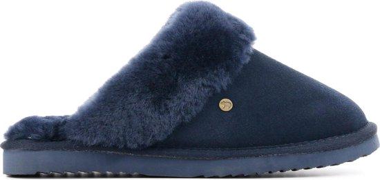 Warmbat Flurry Suede Dames Pantoffels - Blauw - Maat 37