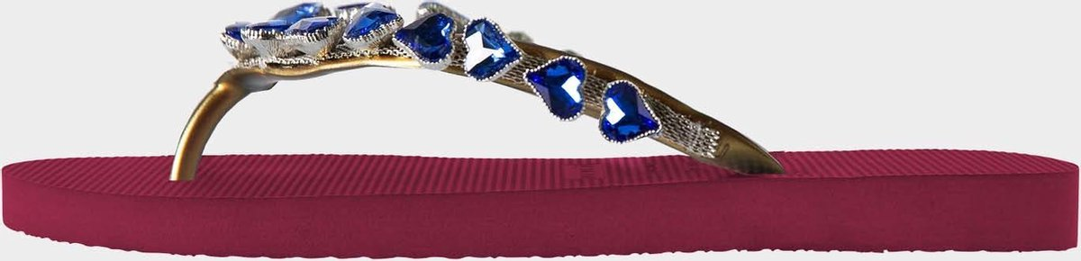 Uzurii Heart Blue dames slippers, Ruby, maat: 39/40