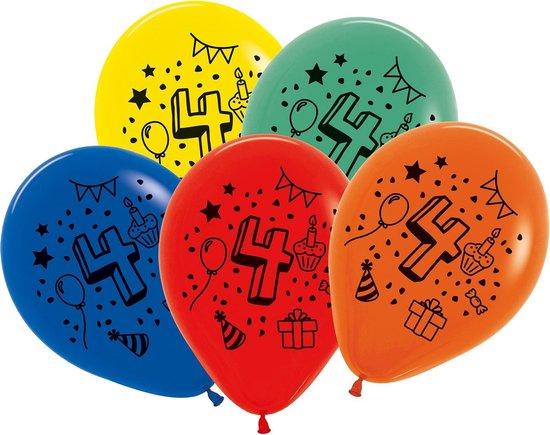 Tib Ballonnen Cijfer 4 30 Cm Latex 7 Stuks