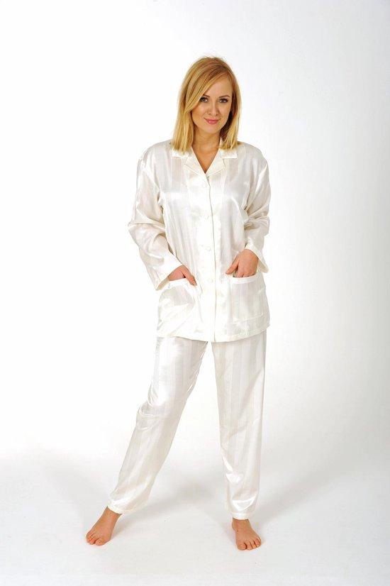 Dames pyjama Normann satijn 94010 - Crème - L 44/46