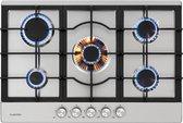 Klarstein Ignito - vrijstaande gaskookplaat - keramische kookplaat - Sabaf-branders - geschikt voor wok -  geringe energiekosten