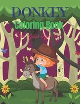 DONKEY Coloring Book For Girls Ages 8-12
