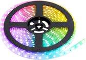 RGB LED Strip | IP20 (voor binnen) | 5 Meter | 12V - 24V | Alle kleuren instelbaar