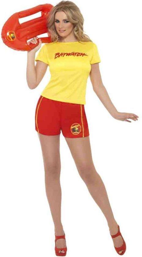 Baywatch dames pakje met Lifeguard shirt en shorts- kostuum maat 38/40